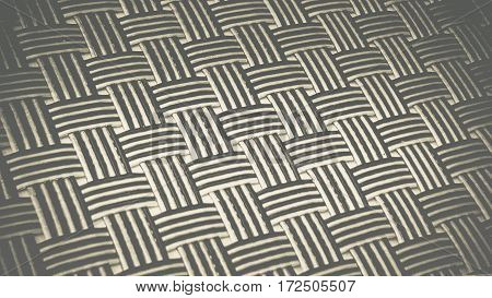 Black & white knitting vertical and horizontal mat for food plate background