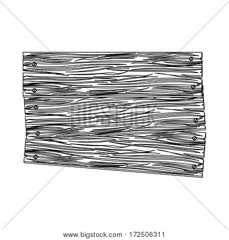 contour wood notices icon, vector illustration design