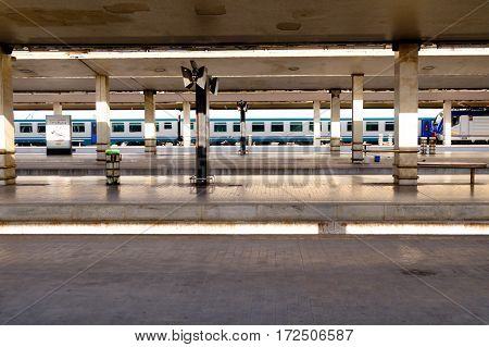 FLORENCE, ITALY. OCTOBER 12. General view of train platform of