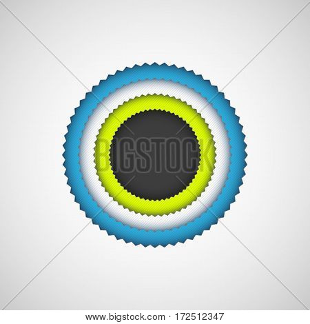 Abstract color badge logo, design concepts, banners, posters, web, sites, applications, apps, prints. Vector illustration.
