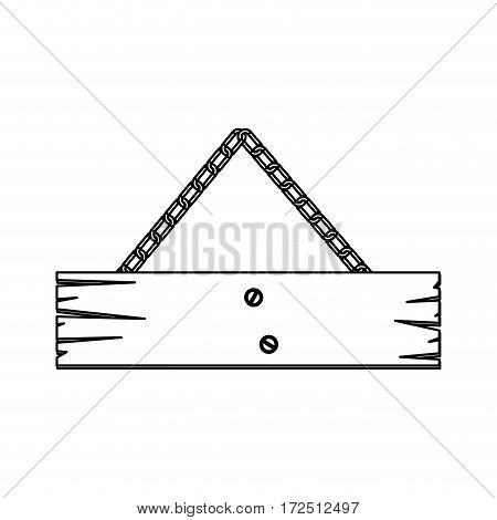 figure wood notices icon, vector illustration design