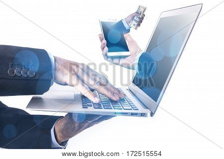 Laptop And Hands