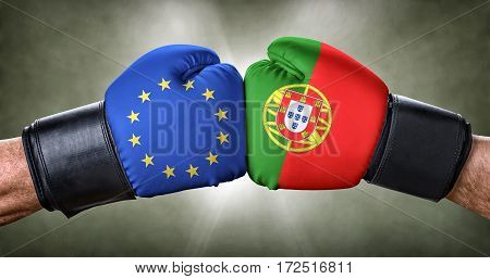 A Boxing Match Between The European Union And Portugal