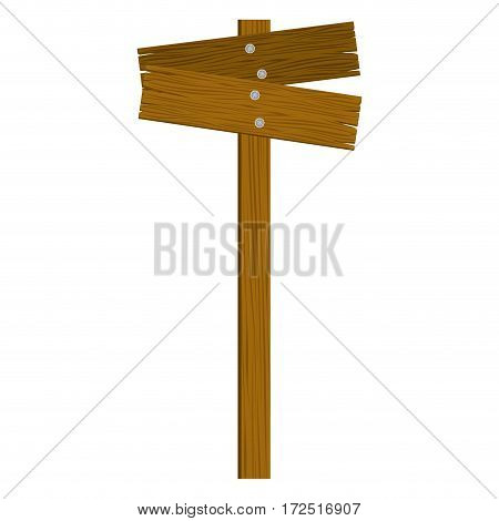 brown wood notices icon, vector illustration design