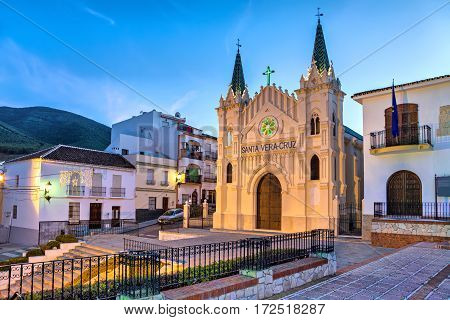Church of Santa Vera Cruz in the evening in Alhaurin el Grande Malaga province Andalusia Spain
