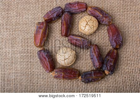Date fruit form a Ying-yang as icon of harmony and balance