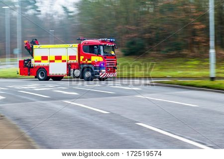 British Fire and Rescue Service on a mission.