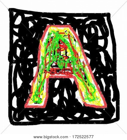 The colored abstract Initials letter A.