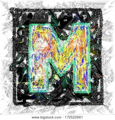 The colored abstract Initials letter M.
