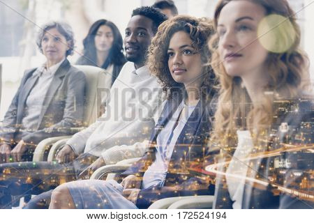 Focused business people during meeting in office
