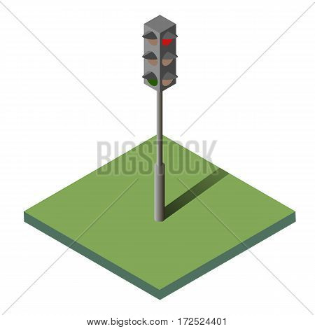 Traffic lights isometric isolated icon, vector file