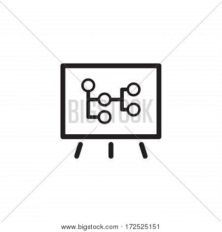 Mind Map Icon. Business Concept. Flat Design. Isolated Illustration.