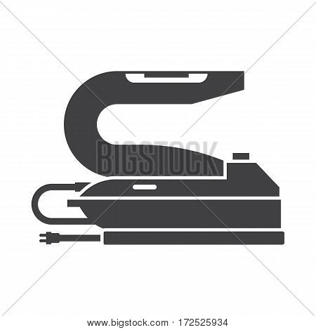 Waxing iron outline icon. Steam-iron silhouette illustration.