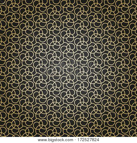 Seamless vector golden ornament. Modern background. Geometric pattern with repeating elements