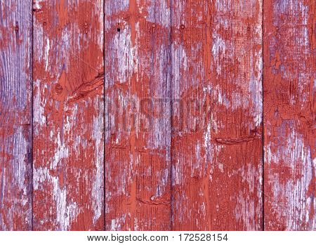 Weathered Color Wooden Fence Texture.