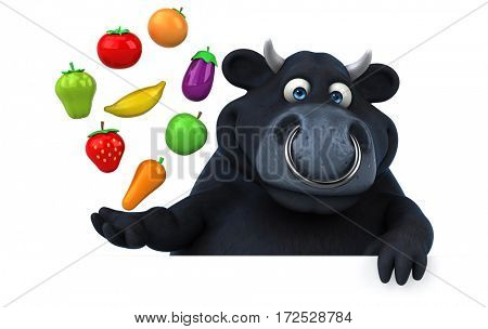 Black bull - 3D Illustration
