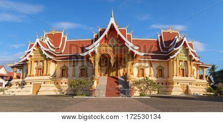 Wat Pha That Luang, Vientiane, Laos.