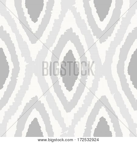 Grey rhombus seamless pattern. Vector hand drawn background