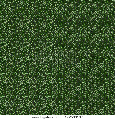 Natural grass seamless texture background in bright yellow green color tone. Top view of grass or stadium
