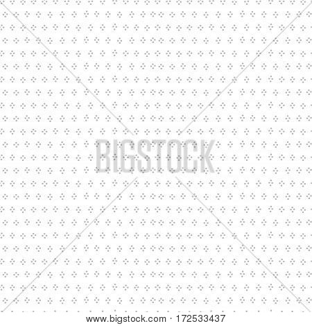 Grey and white simple dot grunge seamless pattern, vector background