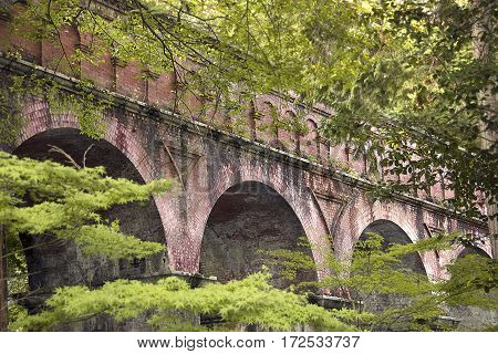 An aqueduct on the grounds of Nanzenji Temple in Kyoto, Japan