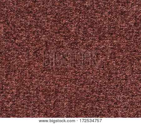 Brown Color Knitting Cloth Texture.