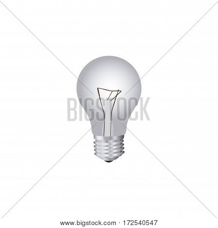 grayscale silhouette with light bulb vector illustration