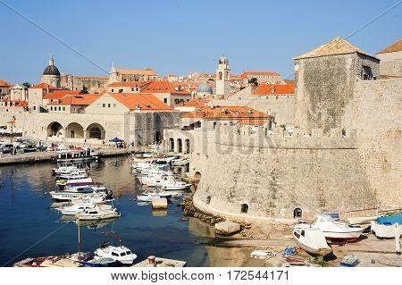 Dubrovnik, Croatia - 22 June 2014: The old town of Dubrovnik on Croatia