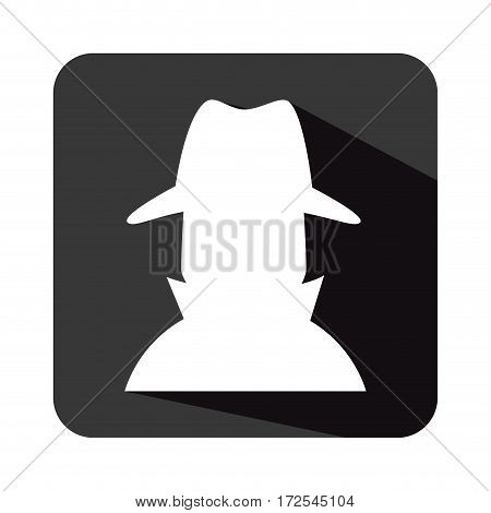 spy avatar isolated icon vector illustration design