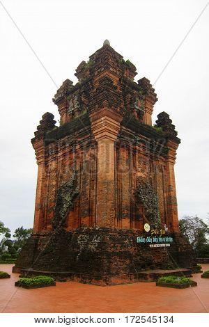 Cham tower on Nhan Mountain in Tuy Hoa Đài Tưởng Niệm Núi Nhạn Vietnam