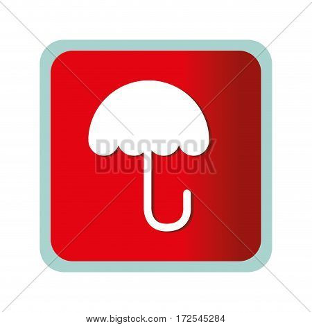 umbrella protection symbol icon vector illustration design