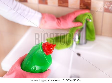 Bathroom Cleaning Concept
