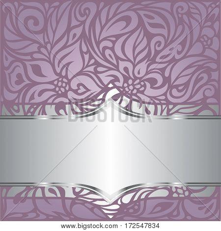 Floral wedding violet vector holiday background design