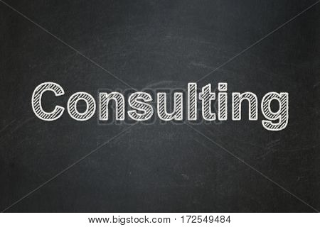 Business concept: text Consulting on Black chalkboard background