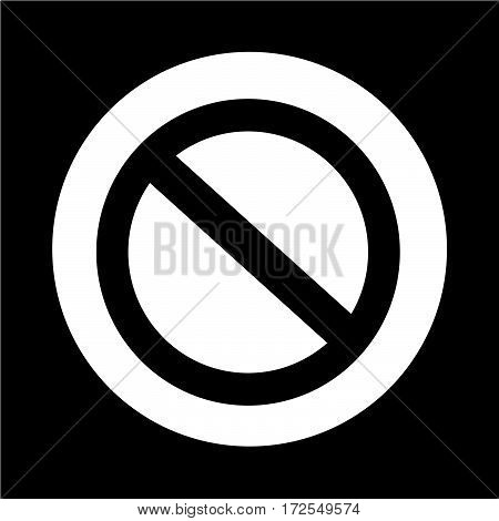 an images of Or pictogram Stop Sign Icon