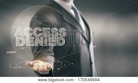 Businessman in the future with futuristic technology