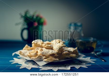 Traditional Faworki Cookies
