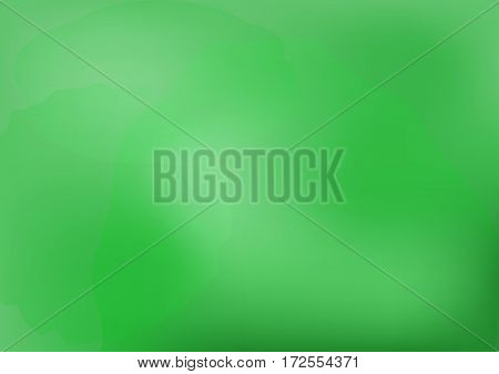 Blurred green background with spots. The rectangular horizontal template. Vector illustration.