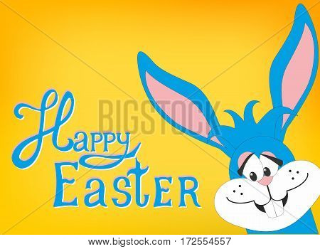 Greeting card with Easter rabbit. Funny bunny. Easter Bunny.