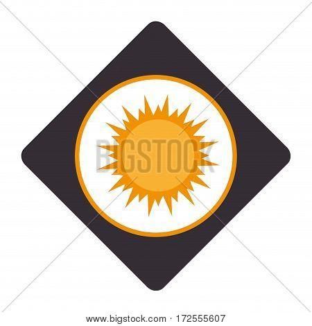 summer sun emblem isolated icon vector illustration design