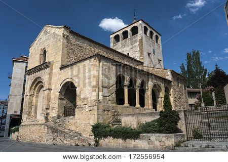 Segovia (Castilla y Leon Spain): exterior of the medieval church of San Clemente