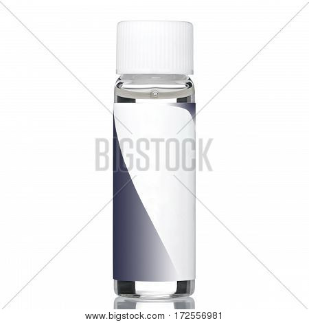 Transparent glue for nails, isolated white background