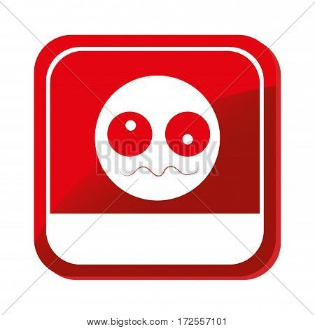 sick face emoticon icon vector illustration design