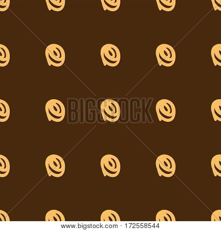 Repeated doodle squiggles. Scrawl painted with a brush. Seamless pattern. Vector illustration.