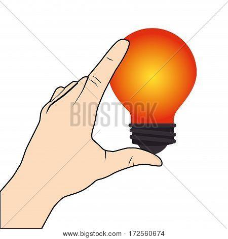 bulb light isolated icon vector illustration design