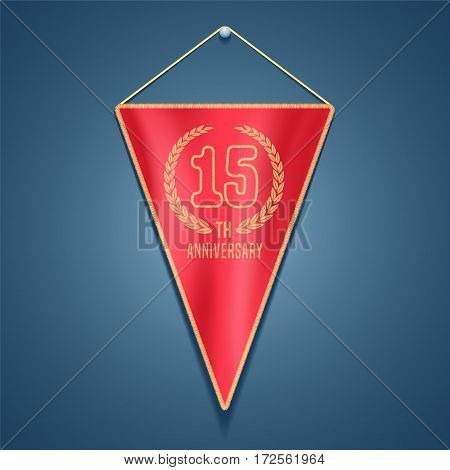 15 years anniversary vector icon, logo. Graphic design element for decoration for 15th anniversary card