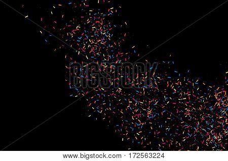 Colorful Explosion Of Confetti.  Colored Grainy Texture.