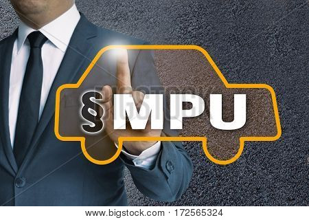 Mpu Auto Touchscreen Is Operated By Businessman Concept