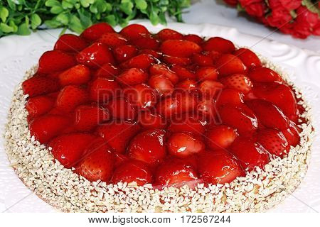 strawberry pie gourmet dessert red jelly toping