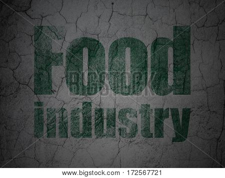 Industry concept: Green Food Industry on grunge textured concrete wall background